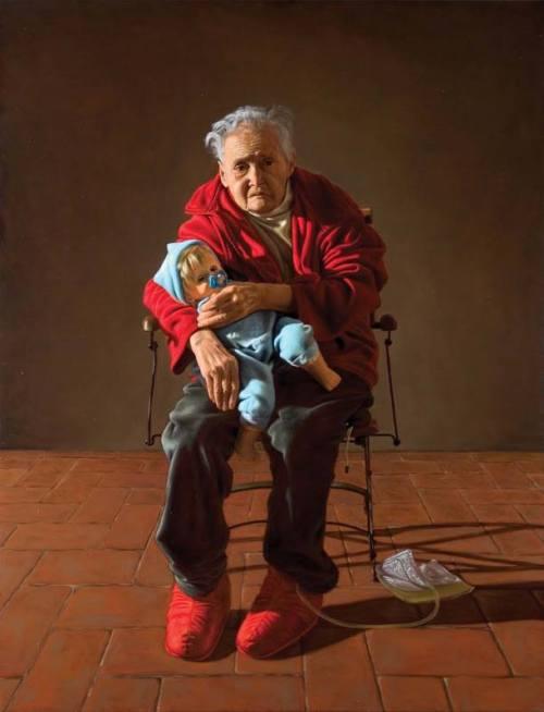 Rocco Normanno Vecchia con bambola