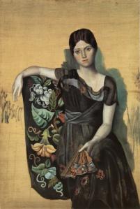 Ritratto di Olga in poltrona' dal Museo Picasso di Parigi